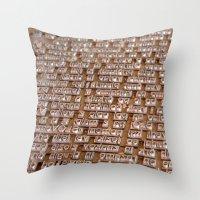Letterpress #1 Throw Pillow