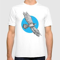 Flying Hawk Mens Fitted Tee White SMALL