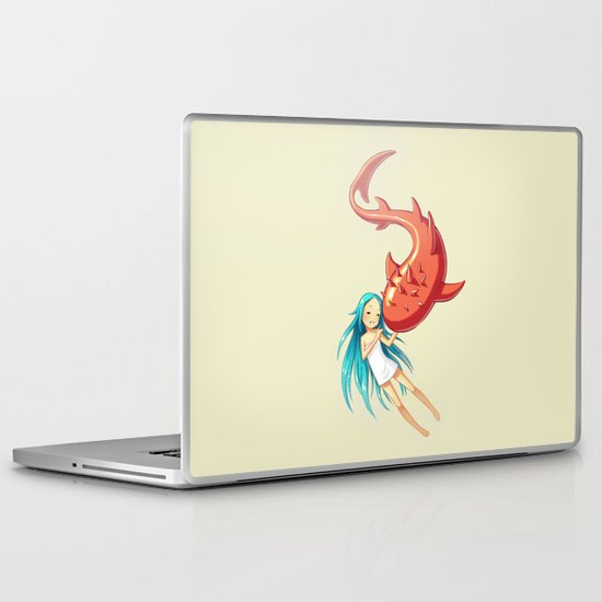 Red Whale Laptop & iPad Skin