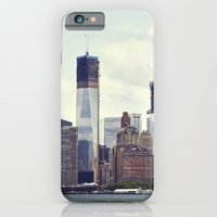 iPhone & iPod Case featuring New York skyline by Leonor Saavedra