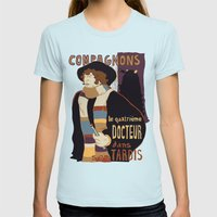 Le Fourth Doctor Womens Fitted Tee Light Blue SMALL