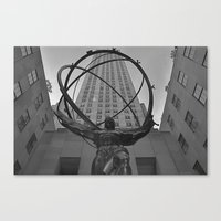 Atlas Statue and Rockefeller Center Canvas Print