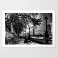 River Thames Path Art Print