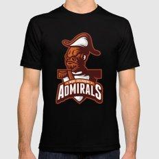 Mon Calamari Admirals on Orange Black Mens Fitted Tee SMALL