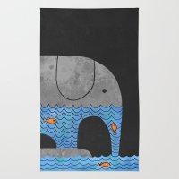 Thirsty Elephant  Rug