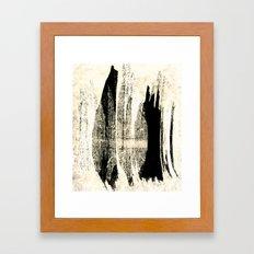 Digital Cave Painting Framed Art Print