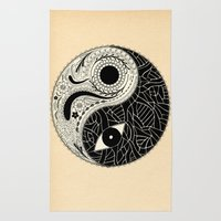 - yin & yang - [collaborative art with famenxt] Rug
