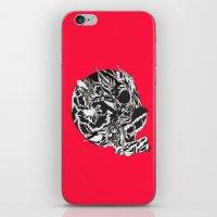 Skull Moustache iPhone & iPod Skin