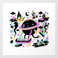 Interstellar Beat Art Print