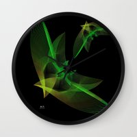 In Flight 4 Of 5 Series Wall Clock