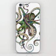 Octopsychedelia iPhone & iPod Skin