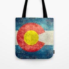 Colorado State Flag Vintage Grunge Tote Bag