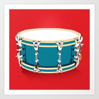 Drum - Red Art Print