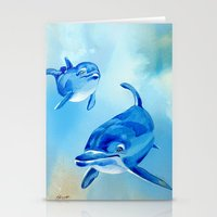 Floating Free - Dolphins Stationery Cards