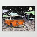 Moon Ride Color Canvas Print