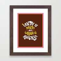 Candy is dandy Framed Art Print