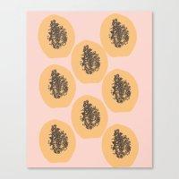 Papaya Print Canvas Print