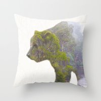The Grizzly Bear Throw Pillow
