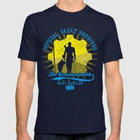 Official vault survivor Mens Fitted Tee Navy SMALL