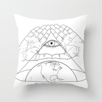 Annuit oeptis Throw Pillow