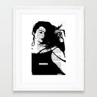 Her Heart Quaked Framed Art Print