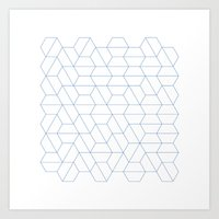 #329 Hexagon Fields – … Art Print