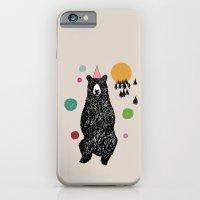 iPhone & iPod Case featuring Bear Scape by Ann Van Haeken