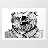 He Was Like A Bear! Art Print