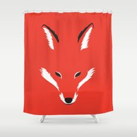 Foxy Shape Shower Curtain