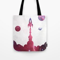 space rocket Tote Bag