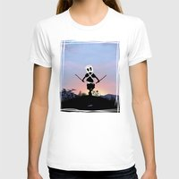 Deapool Kid Womens Fitted Tee White SMALL