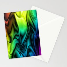 Rainbow Colors Soft Silk Stationery Cards