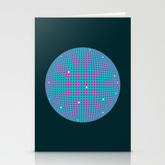 Sphere Blue Stationery Card