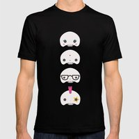 Cute skulls Mens Fitted Tee Black SMALL
