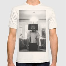 Ol' Radio Daze Mens Fitted Tee Natural SMALL