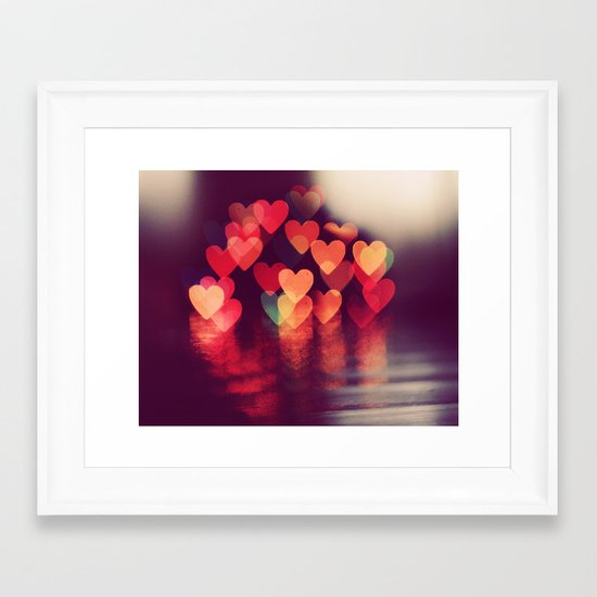 Love LIGHTS Framed Art Print