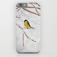 iPhone & iPod Case featuring Tit and the snow. by Julia Dávila-Lampe