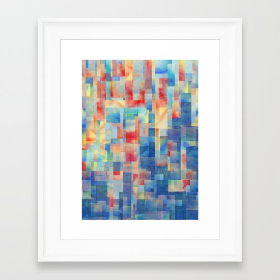 Long Division (Torrent Remix) Framed Art Print