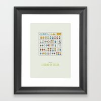 Link Model Kit Framed Art Print