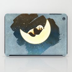 Sleeping Panda on the Moon iPad Case