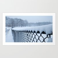 Snow In Central Park VI Art Print