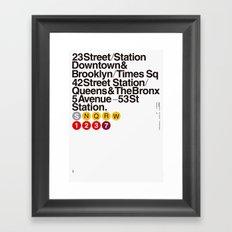 Nº5. Helvetica Posters by empatía® Framed Art Print
