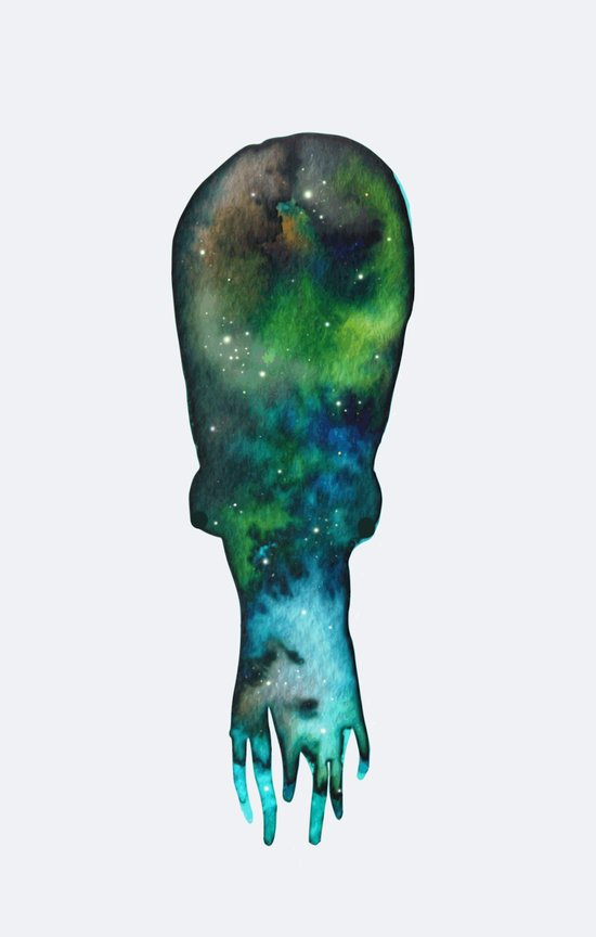 galaxy cuttlefish Art Print
