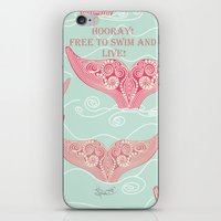 FINALLY! Whales are free from persecution! iPhone & iPod Skin