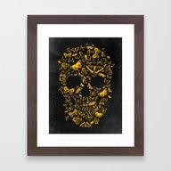 Skull Butterfly 2 Framed Art Print