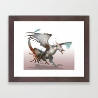 Reshiram-No Text Framed Art Print
