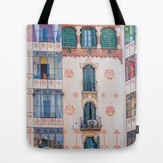 Surreal house in Barcelona. Tote Bag