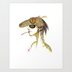 The Masquerade:  The Iguana Art Print