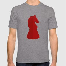 Red Chess Piece - Knight Mens Fitted Tee Tri-Grey SMALL