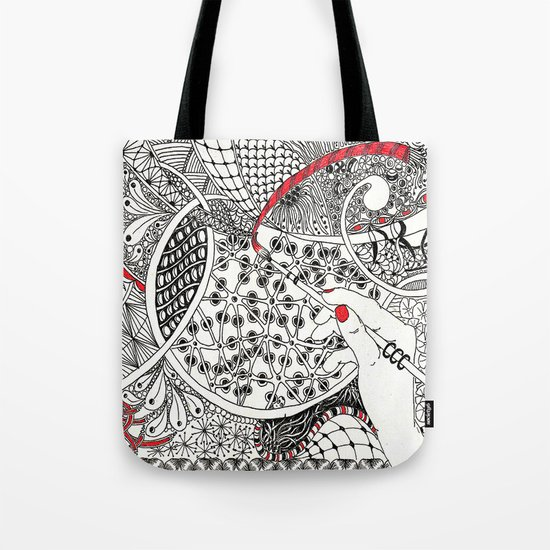 Red Line Tote Bag